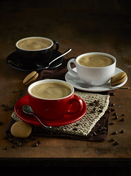 Striking coloured Cups and Saucers are fantastic for adding some variety into your hot drinks service.