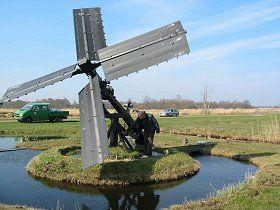 Polder mill (paaltjasker), Ossenzijl / Kalenberg, the Netherlands