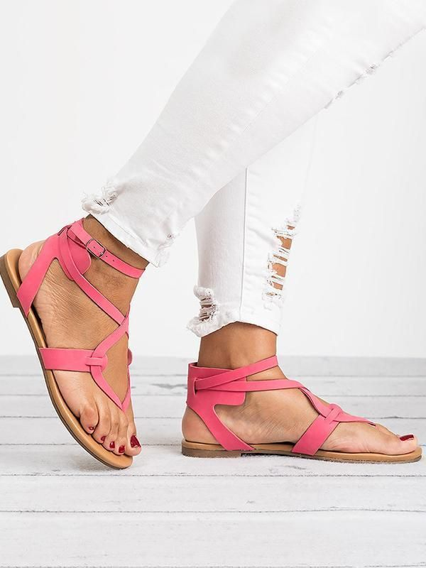 84d65a0f3 2018 Summer Bandage Beach Flat Sandals For Women