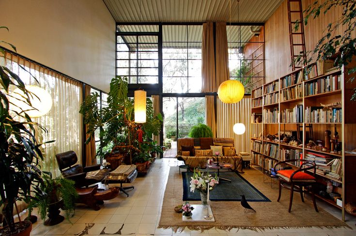 Living Rooms, Open Spaces, Cases Study, Livingroom, House Interiors, Eames House, Los Angels, Ray Eames, Design