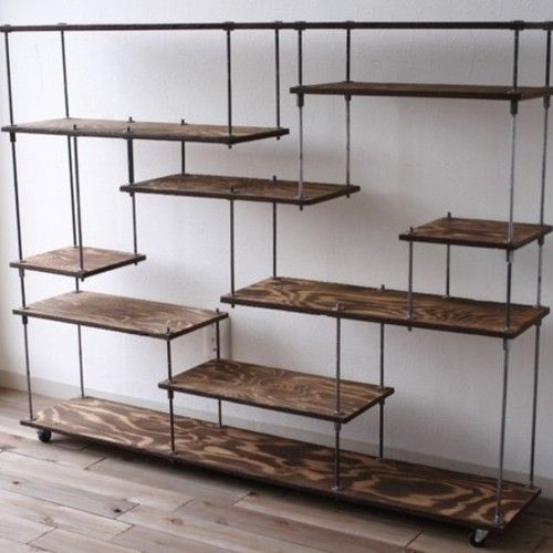 wood iron shelf 970*1200*225