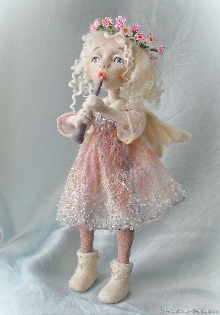 """Купить Кукла из шерсти """"Утро"""" в интернет магазине на Ярмарке Мастеров"""