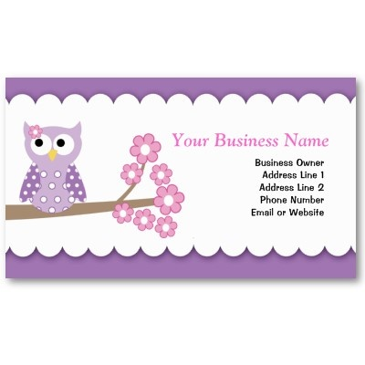 25 best business card templates images on pinterest for Owl business cards