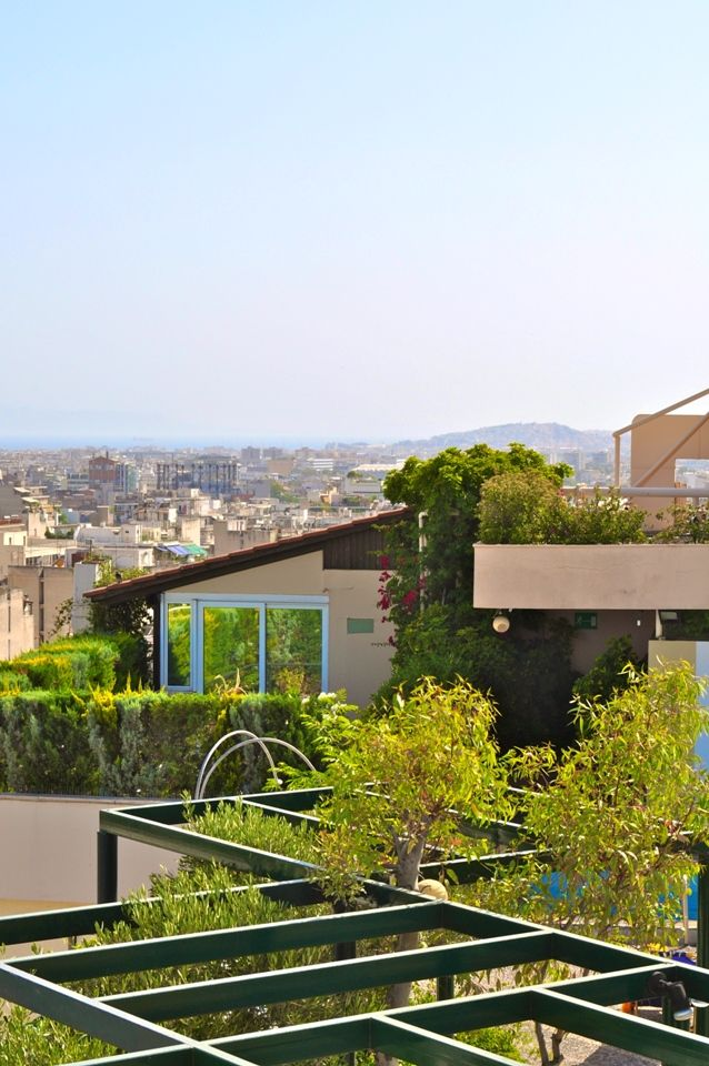The 9th floor #Roof #Garden is open year-round and combines fantastic #food, #drink, and #swim with unobstructed views of the city to create a special atmosphere.  #Athens #TheStanley #Hotel