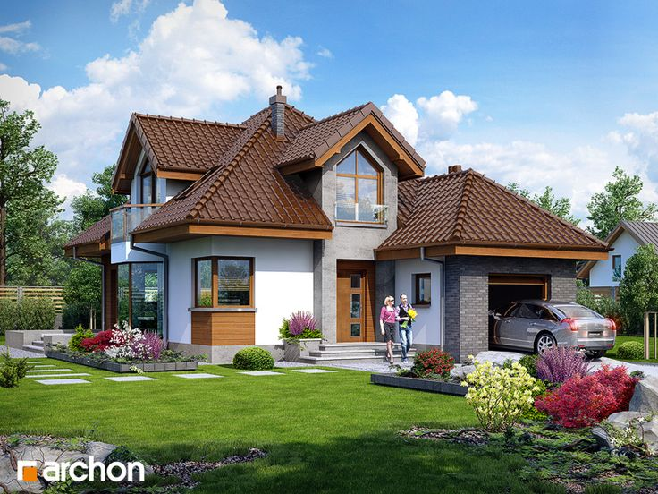 Дом в рукколе - Стиль 1