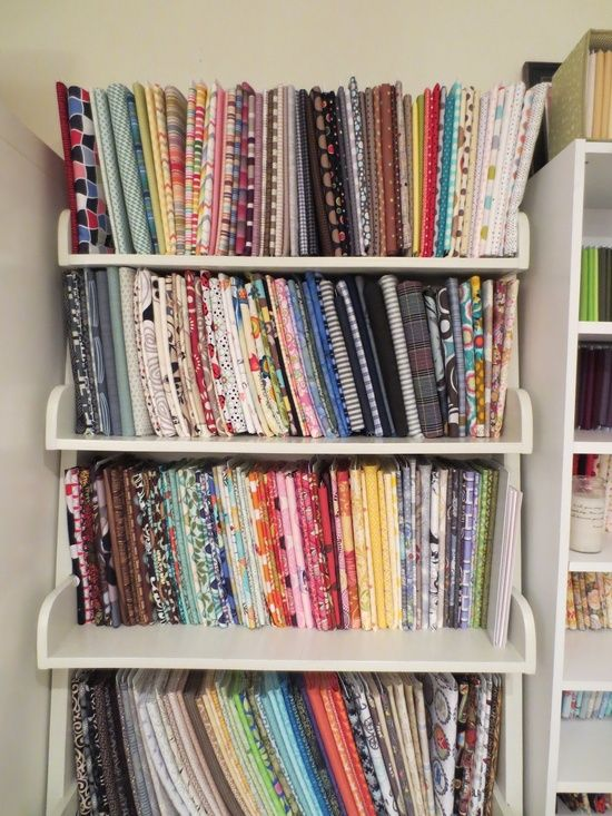 Ideas For Organizing Fabric From The Cottage Mama ~ {comic Book Boards And File Folders}