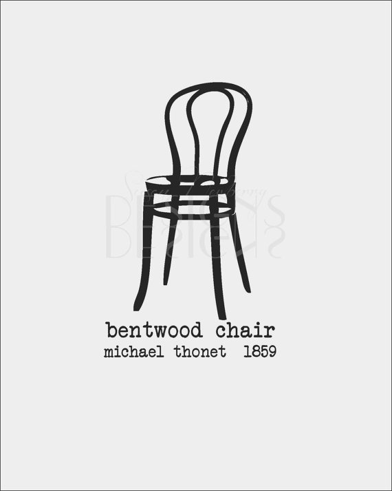 Wall art bentwood chair michael thonet by for Le pere du meuble furniture