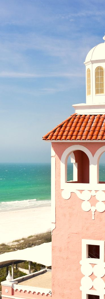I used to live in St. Petersburg FL and this is a famous pink hotel/resort on the beach that I used to hang out at called the Don CeSar