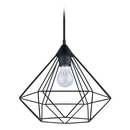 Eglo Tarbes Matte Black Pendant Light with Bowl / Dome Shade   94188A   Destination Lighting