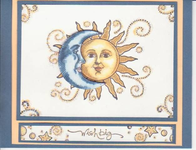 stampin up sun, moon and stars set - in my 2003 catalog