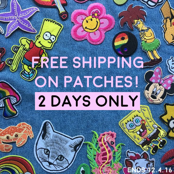 FREE SHIPPING on all patches - 2 days only! Now is the time to start that patched-denim jacket of your dreams... heart emoticon http://www.tibbsandbones.com/collections/badges-patches  #irononpatches #denimjacket #patcheddenimjacket