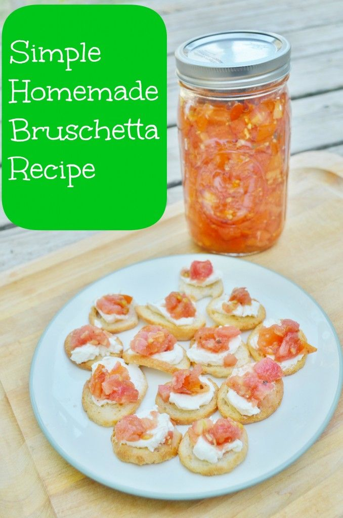 Simple Homemade Bruschetta Recipe