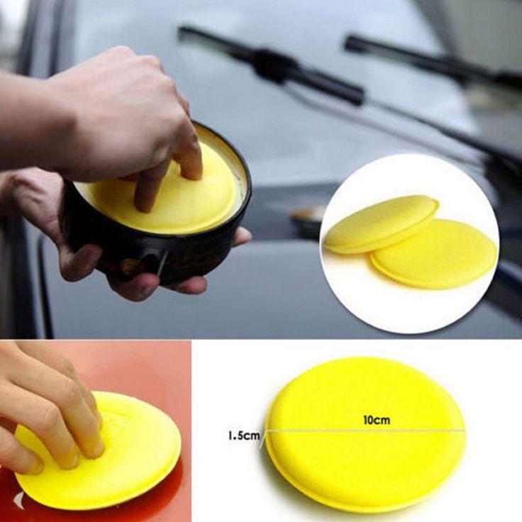 12 Pcs Yellow Practical Car Waxing Polish Foam Sponge Cleaning Pads Car Cleaner Car Accessories
