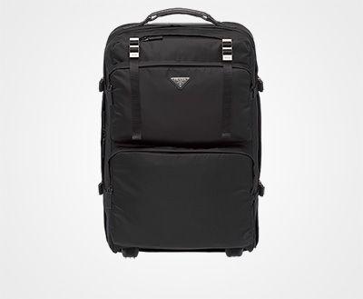 da63481554 Nylon and Saffiano leather trolley BLACK Prada | Pick a BAG in 2019 ...