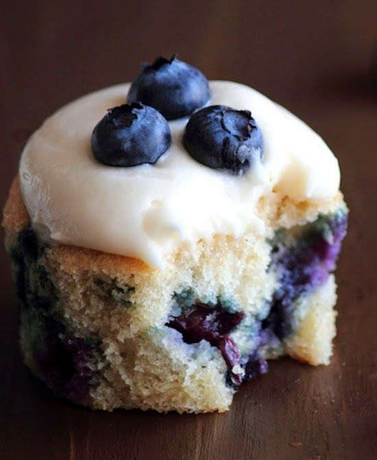 Blueberry Cream Cheese Cupcakes ~ These Cupcakes are a dream. The cupcakes have a bright, exuberant flavor aided by a good dose of vanilla and a smattering of blueberries. The cream cheese frosting, however, elevates these cupcakes from ordinary to extraordinary