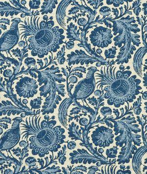 Waverly Tucker Resist Indigo Fabric