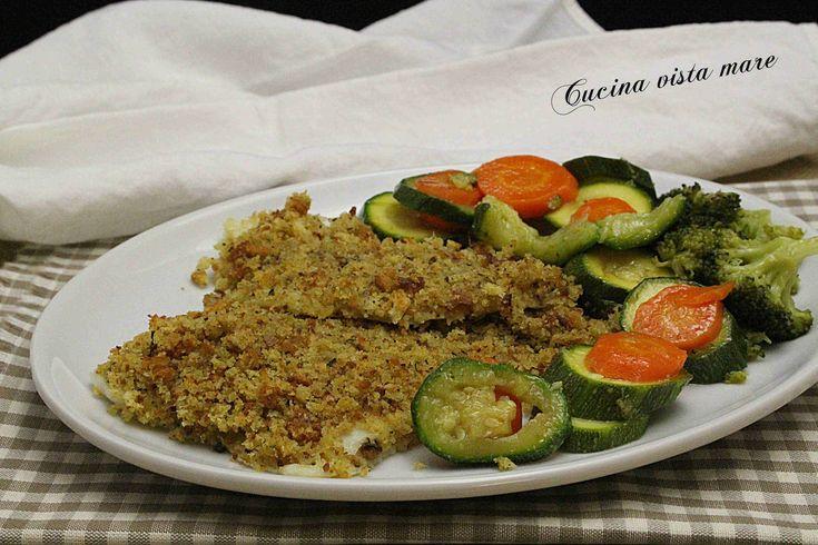 Filetti+di+rombo+al+forno+con+verdure