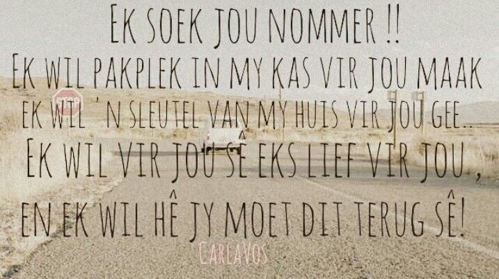 Pad na jou hart. #afrikaans