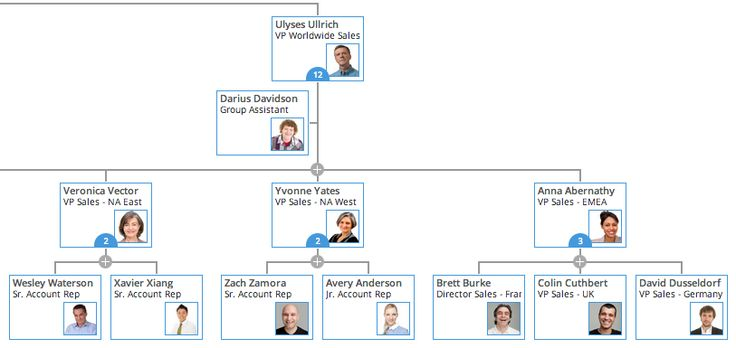 Organimi is a fast, easy to use org chart tool to create and share org charts for your teams online so everyone can stay connected everywhere they work.  Check out this layout from the masthead of Business Insider.