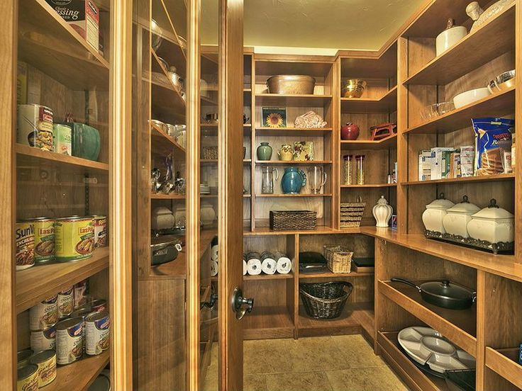 67 best dream pantry images on pinterest kitchen storage for Country kitchen pantry ideas