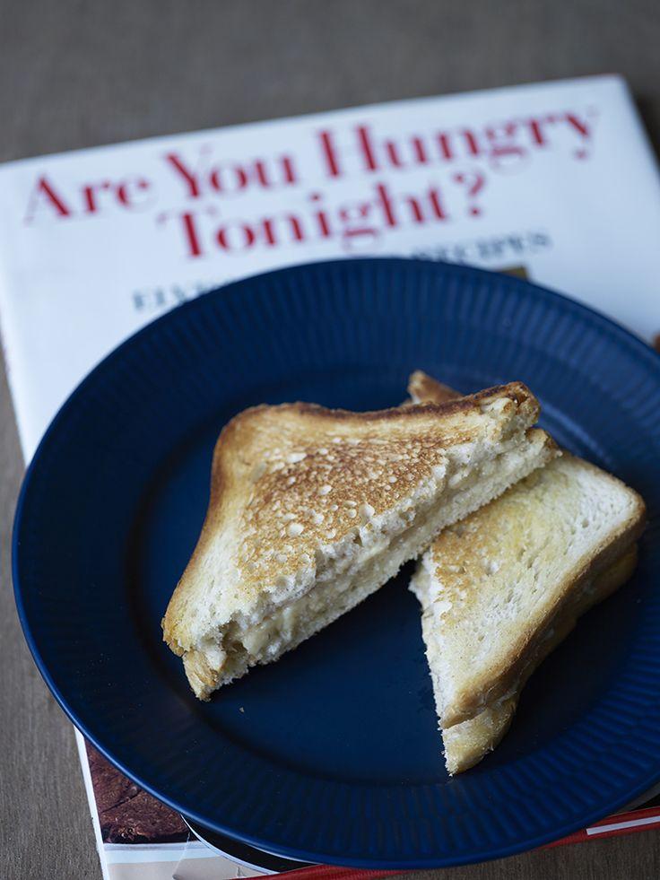 Bilde og oppskrift på Elvissandwich og kokeboken til Elvis, Are you hungry tonight? Food styling.