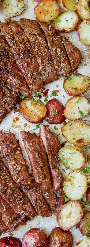 Sheet Pan Steak and Potatoes Recipe — Eatwell101