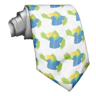 waving parrot in shirt neck wear