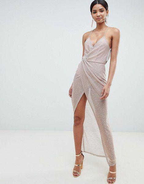 fd6eae8a77d Metallic drape maxi dress by Asos  asos  dresses  gowns