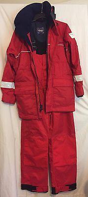 Women's West Marine Foul Weather Gear, Jacket And Bib Pants, Size XS