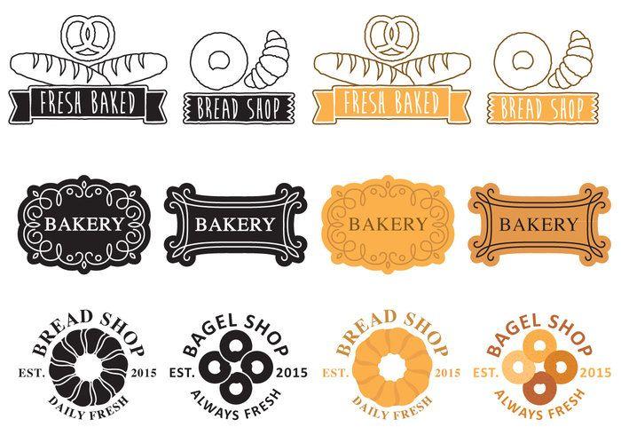 Free vector Bakery Logos #22474