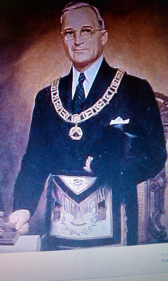 ❥ Luciferian Freemason Harry S. Truman~ satan worshipper