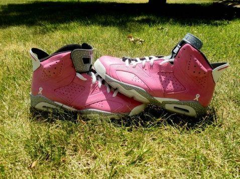hot sale online f7c2a 8ec33 Youth Big Boys Air Jordan 6 Think Pink