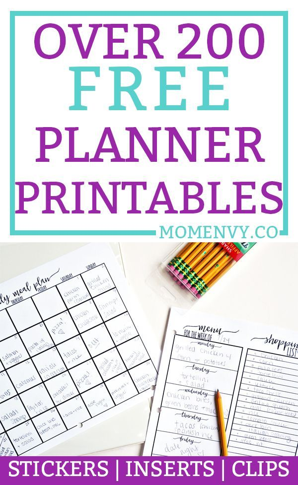Free Planner Printables. Over 200 FREE planner printables to fit any size planner. Planner tutorials, free planner stickers, free planner inserts, and free planner dividers. Plus, free paper clips! Download them all for free today! #happyplanner #planners #plannerlove #freeplannerprintables #planning via @momenvy
