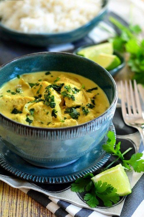 Gyors kókuszos, lime-os csirkecurry recept