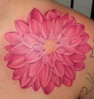 Dahlia tattoo - love the color
