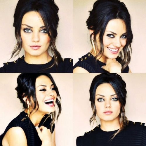 """If somebody finds me attractive, God bless them."" - Mila Kunis...loving her hair & eyes"