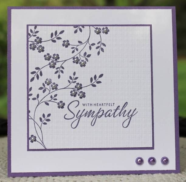 Sympathy cards are tough for me... I like this one..simple beauty!: Beautiful Sympathy, Heartfelt Sympathy, Cards Ideas, Sympathy Cards, Elegant Sympathy, Cas Sympathy, Pretty Cards, Paper Crafts, Engagement Cards