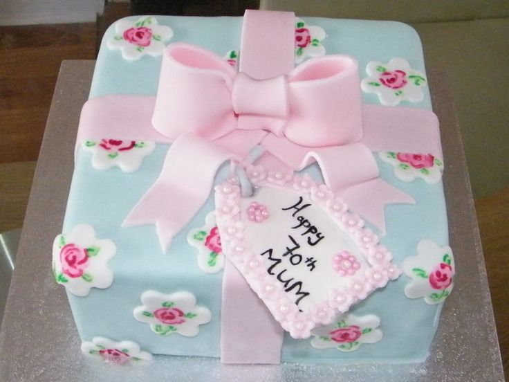 Cath Kidston Inspired Present Cake  on Cake Central