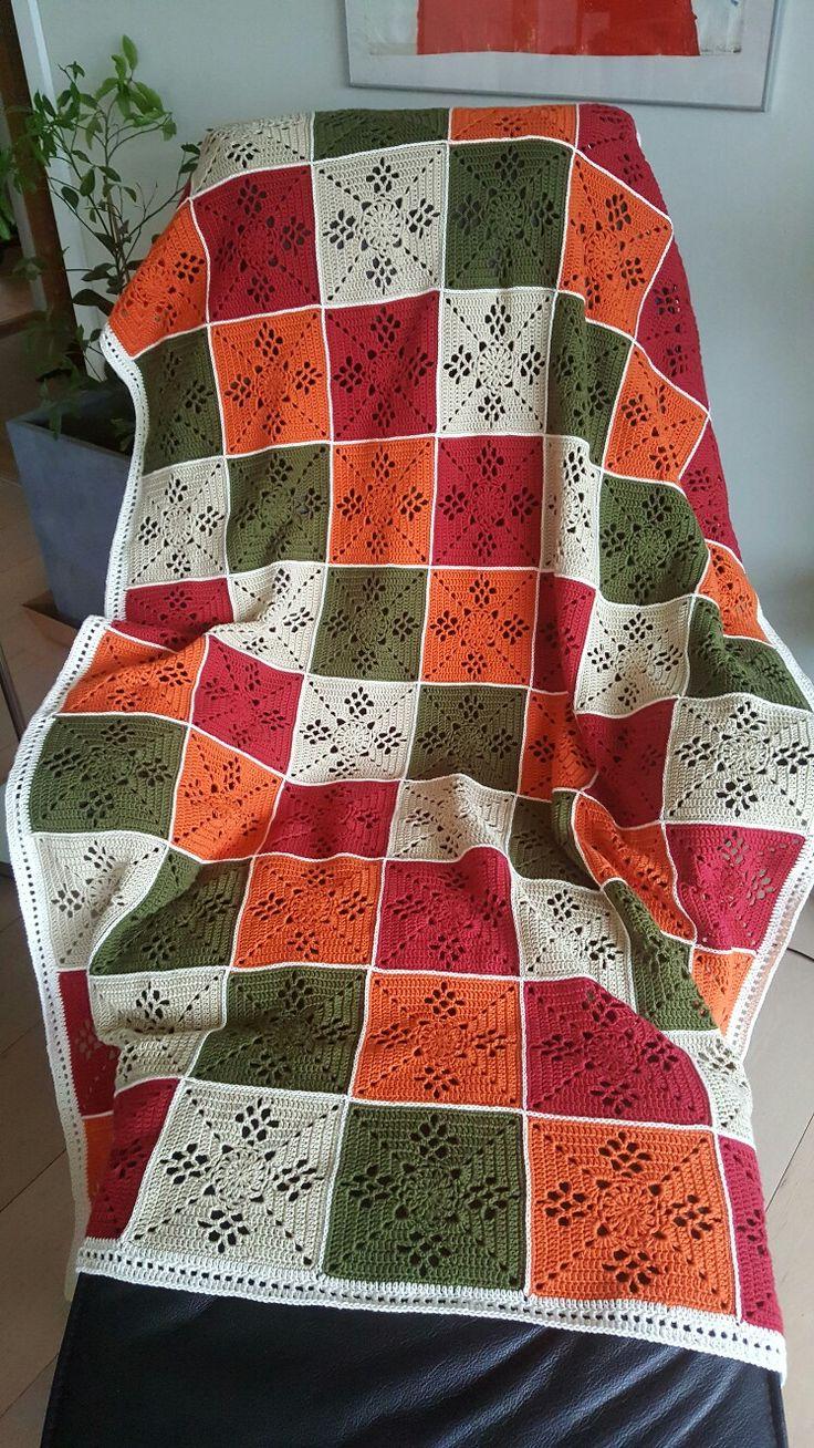 Victorian lattice square blanket