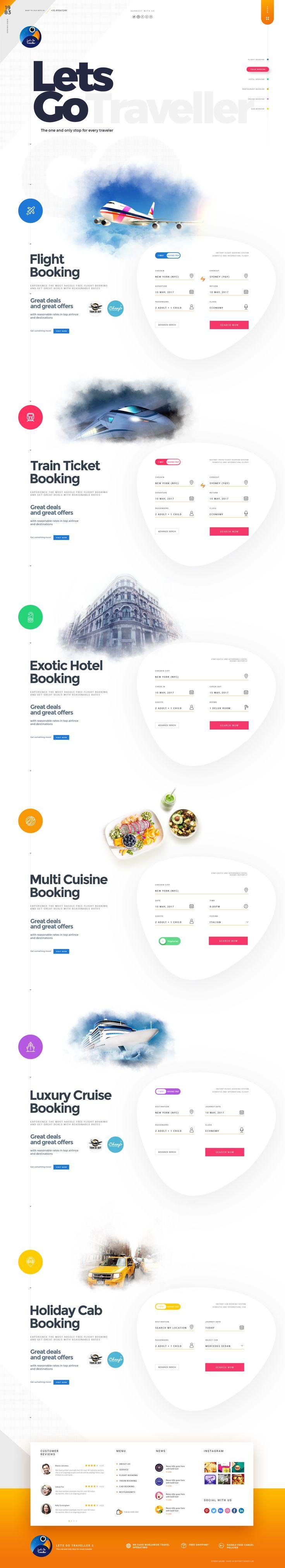 Let's GO Traveller 2 | A Multipurpose Travel Template #hotels #planyourholiday #restaurants • Download ➝ https://themeforest.net/item/lets-go-traveller-2-a-multipurpose-travel-template/21298968?ref=pxcr