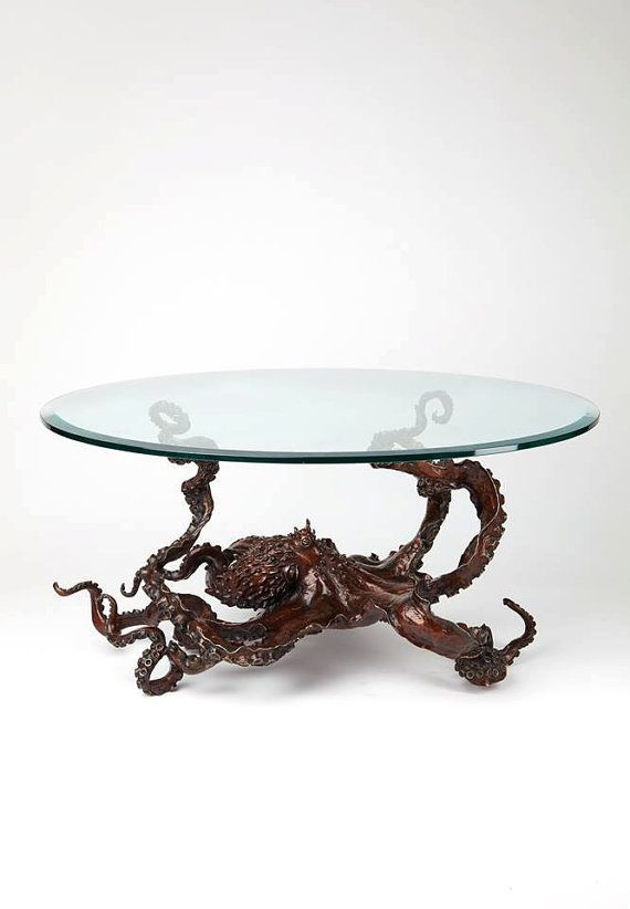 Bronze Octopus coffee table by Kirk by KirkMcGuireSculpture, $18000.00