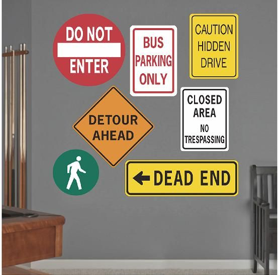 Traffic Signs Wall Decor : Best race car bedroom images on