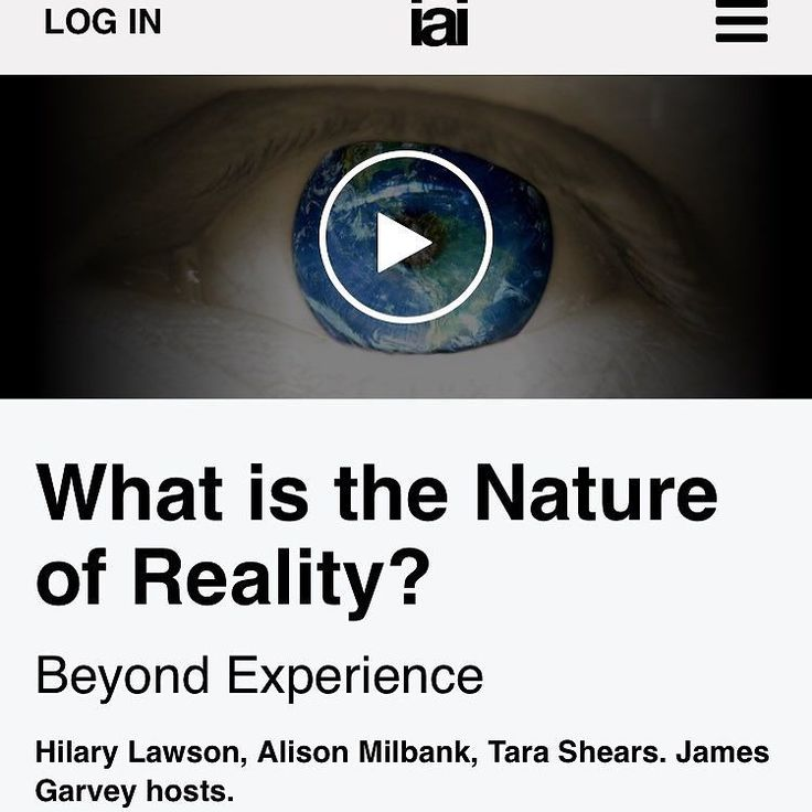 We think we know what is real and what is not. Yet we can't even agree what reality is made of- everyday things particles and energy or language and thought. Is reality essentially incomprehensibly because it is beyond us? Join CERN physicist Tara Shears post-postmodern metaphysician Hilary Lawson and theologian Alison Milbank to question reality beyond experience