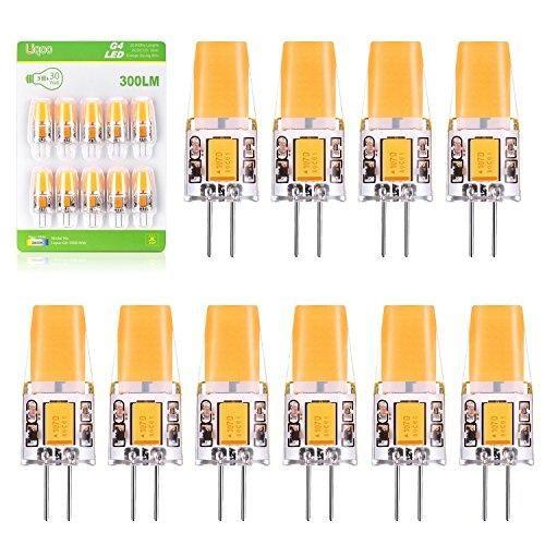 Oferta: 24.99€. Comprar Ofertas de Liqoo® 10x 3W Mini Bombillas LED G4 Lámpara COB Bajo Consumo Blanco Cálido 2800K Ra 83 AC DC 12V Ángulo de visión 260° 300 Lu barato. ¡Mira las ofertas!