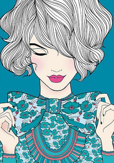 Natalie Ferstendik illustration, love this x