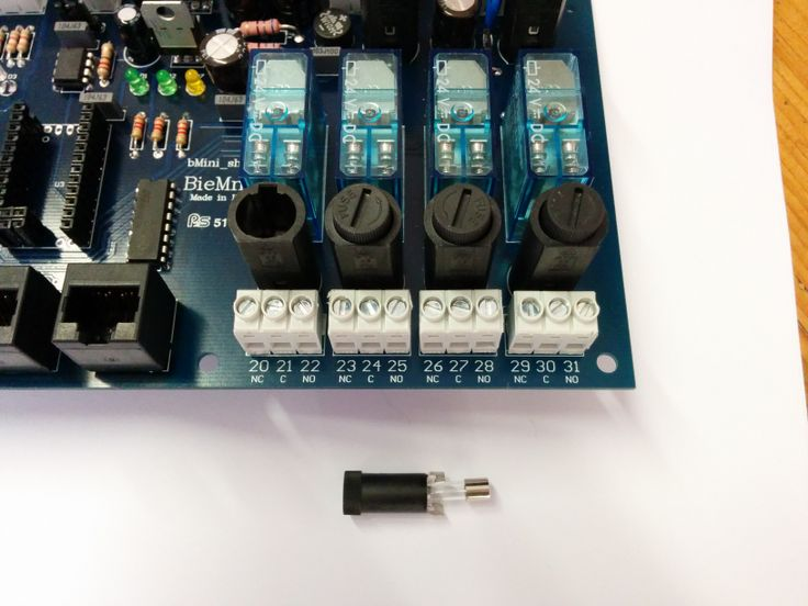 Bmini digital outputs relays with fuses