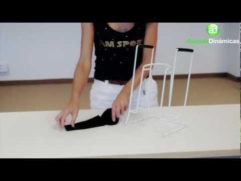 Pone medias y calcetines de compresión JOB Ayudas Dinámicas H2092 - YouTube