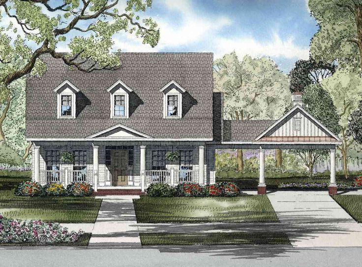 awesome cottage house plans with porte cochere #7: Plan 59294ND: Timeless Porte Cochere