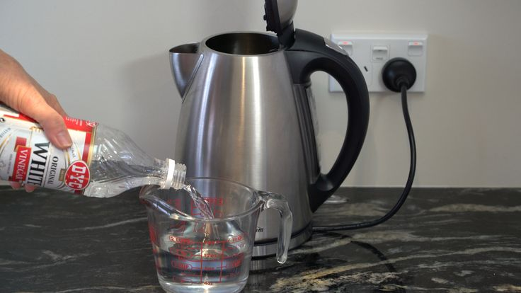 Clean your kettle by removing mineral deposits that can make your kettle noisy and leave white deposits on the inside.
