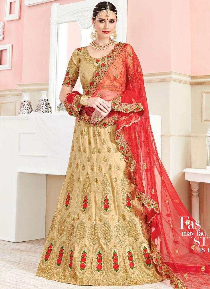 Buy lehenga choli online from designers across india, usa, uk, canada. Order this resplendent embroidered, lace, resham and zari work lehenga choli.